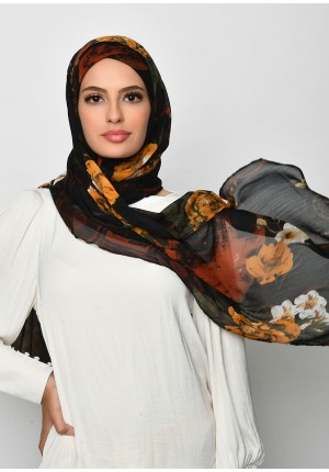Once Upon A Time-Free Style with Xinner-Printed Crinkled Chiffon