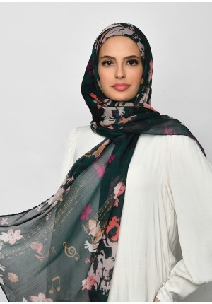 Sound Of Music-Free Style with Bokitta Inner-Printed Crinkled Chiffon