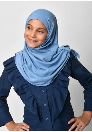 Blue-SlipOn-Polo Cotton-Medium / Long/Maxi