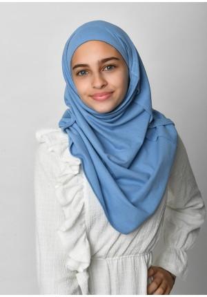 Blue-SlipOn-Polo Cotton-Medium / Short