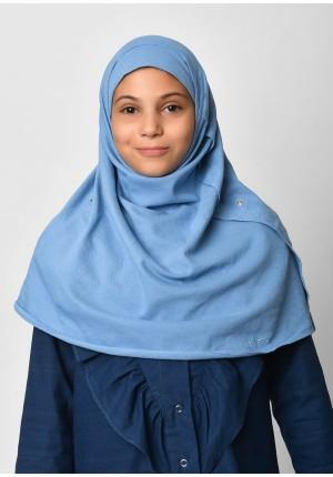 Blue-SlipOn-Polo Cotton-Small / Long/Maxi