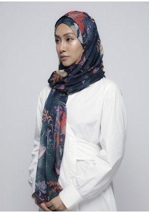 Under The Sea-Free Style with Xinner-Printed Crinkled Chiffon
