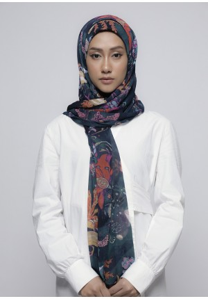 Under The Sea-Free Style with Bokitta Inner-Printed Crinkled Chiffon