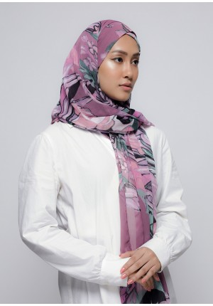 Soul Mate-Free Style with Xinner-Printed Crinkled Chiffon
