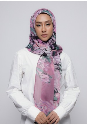 Soul Mate-Free Style with Bokitta Inner-Printed Crinkled Chiffon