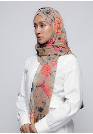 Mother Earth-Free Style with Xinner-Printed Crinkled Chiffon