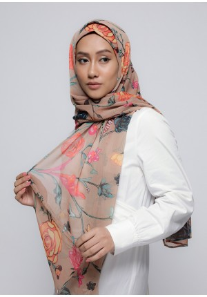Mother Earth-Free Style with Bokitta Inner-Printed Crinkled Chiffon