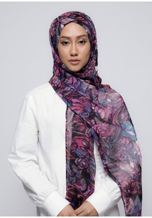Brave Heart-Free Style with Xinner-Printed Crinkled Chiffon