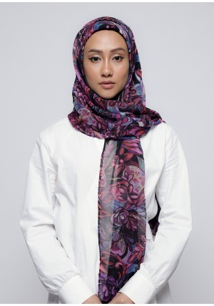 Brave Heart-Free Style with Bokitta Inner-Printed Crinkled Chiffon