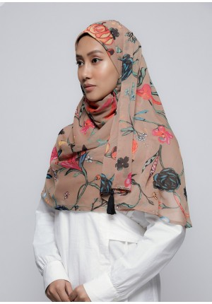 Mother Earth-Chic!-Printed Crinkled Chiffon